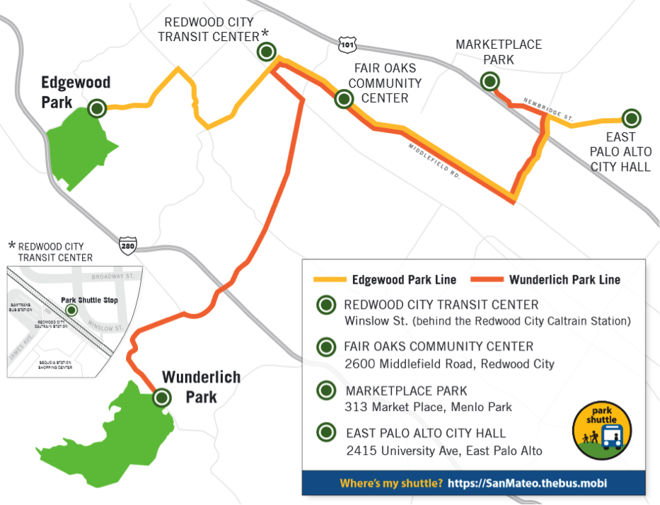 Free Weekend Park Shuttle Route Map